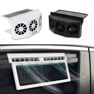 Car Ventilator, Solar Powered, 3 Cooler Fans, Portable, Safe