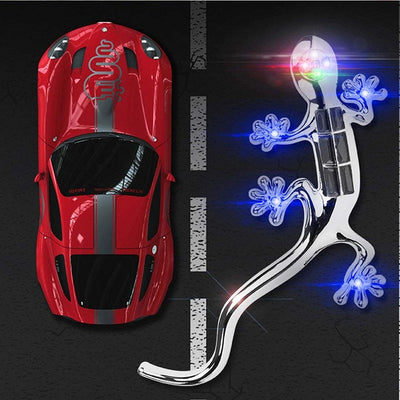 Solar Gecko Warning Car Light, LED Car Sticker Light