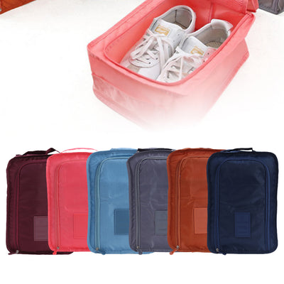 Nylon Travel Shoes Bag Organizer Double Zipper Travel Pouch