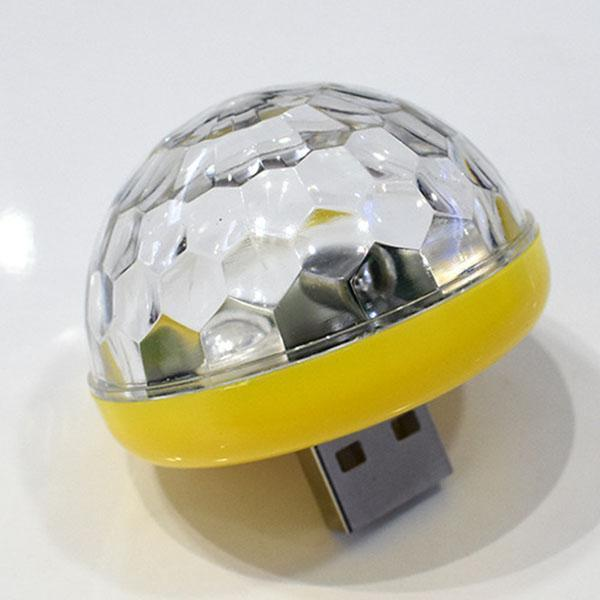 USB Mini Shining Disco Party Light Magic Colorful Strobe LED Sound Control In-car Decoration Light