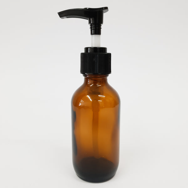 Amber Glass Lotion Pump Bottle - 50ml/100ml