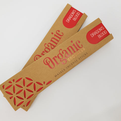 Dragons Blood - Organic Goodness Masala Incense Sticks