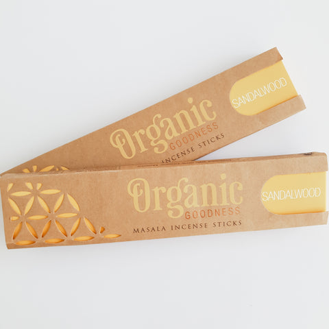 Sandalwood - Organic Goodness Masala Incense Sticks