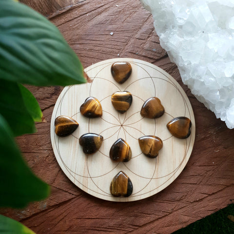 Tigers Eye Mini heart