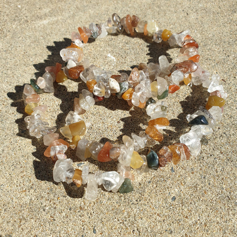 Mixed Quartz chip bracelet