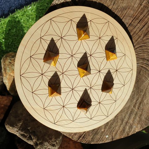 Tigers Eye Pyramid - Mini