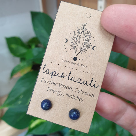 Lapis Lazuli Crystal Earrings