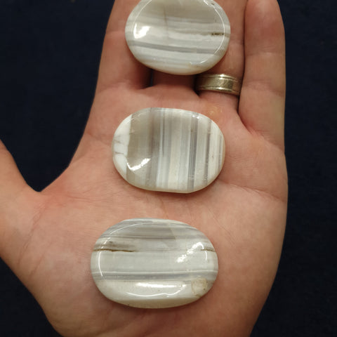 Banded Agate Worry Stone