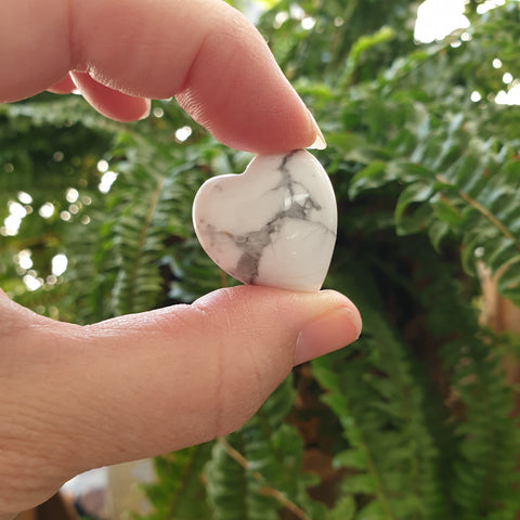 White Howlite Mini Heart