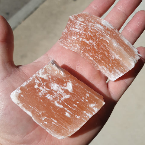 Orange Selenite Bar Raw