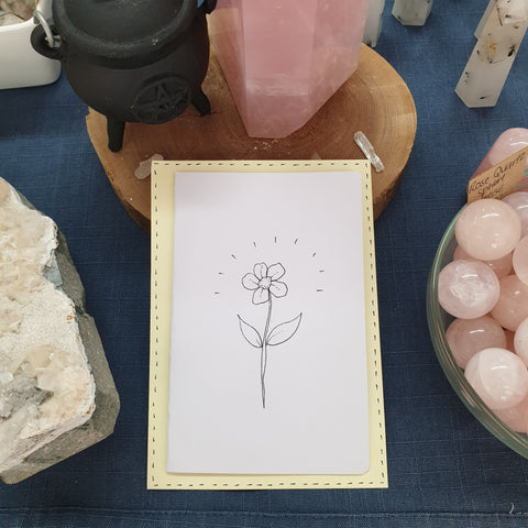 Flower - Hand Drawn Card - Eat More Flowers