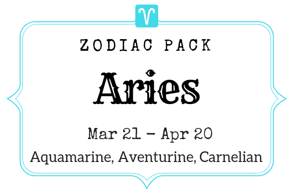 Zodiac Birthstone Trio - Aries