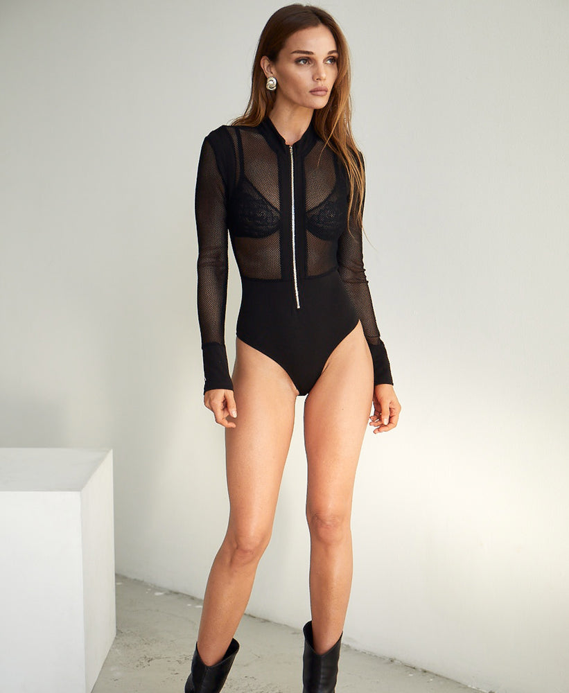 Fearless Zip Up Bodysuit