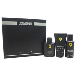 Scuderia Ferrari Black EDT Mens Gift Set