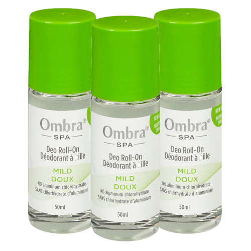 Ombra 3 X 50ml Mild Roll On Deodorant