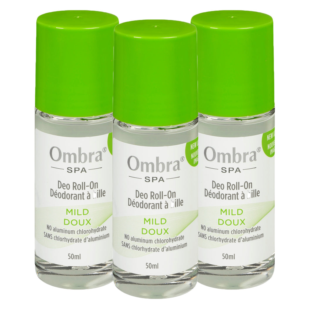 3 X 50ml Mild Roll On Deodorant