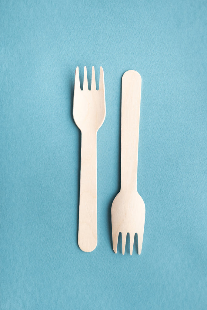 "Birch Wood 6.5"" Forks - Pack of 50"