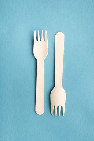 "Wooden 6.5"" Forks - Pack of 50"