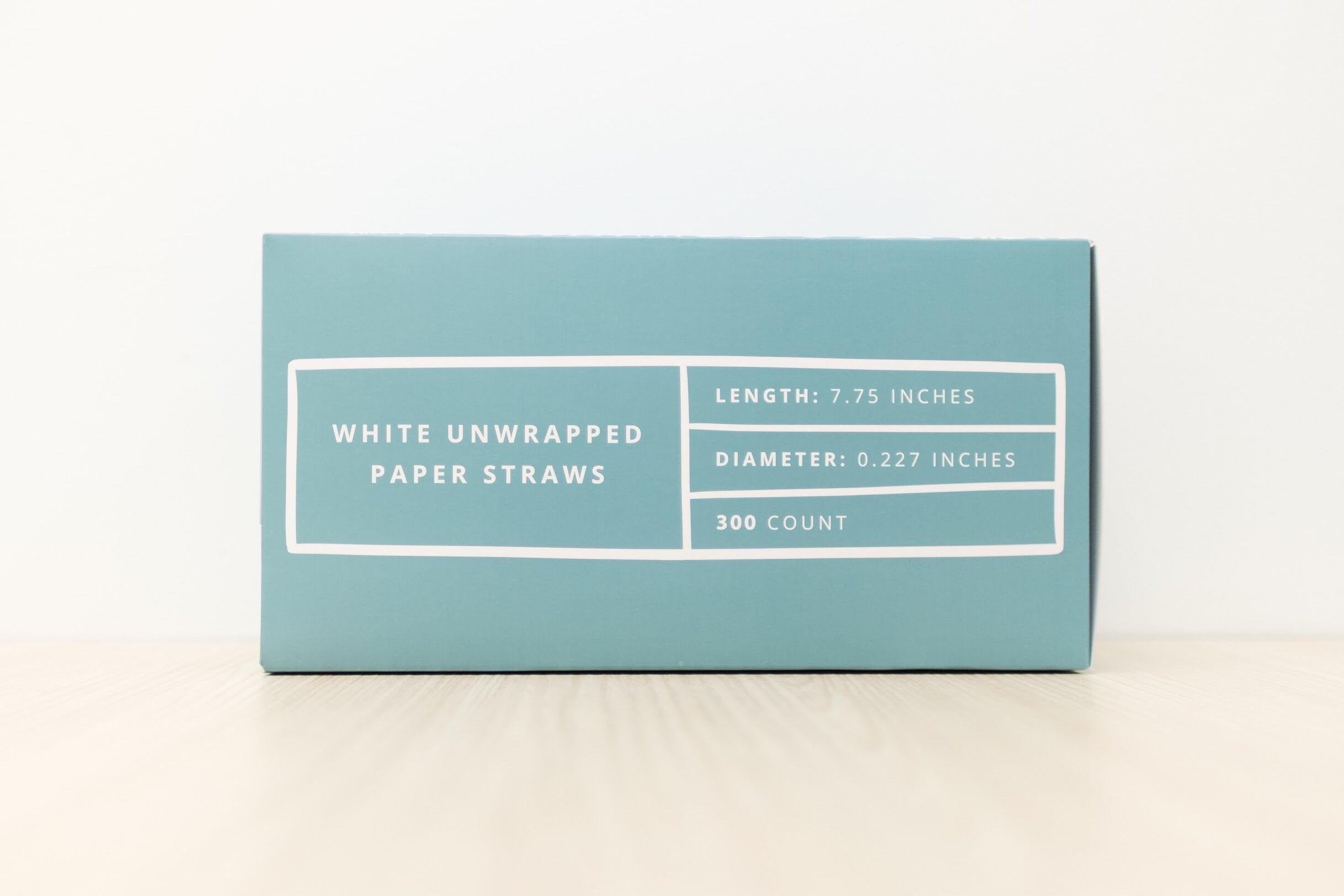 SeaStraws BlueBox White Pack of 300