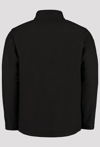 Back of of Men's Black Workwear Soft Shell Jacket