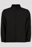 Front of Men's Black Workwear Soft Shell Jacket