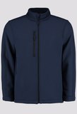 Front of Men's Navy Blue Workwear Soft Shell Jacket