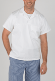 White Knight White Short Sleeve bakers top