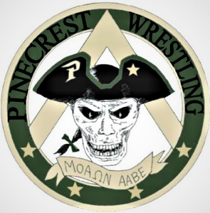 Pinecrest Wrestling Club 5x5 Magnet - Pinecrest Wrestling Club