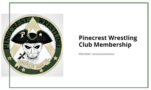 Pinecrest Wrestling Club Memberships - Pinecrest Wrestling Club