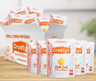 Crusty's Singapore Chilli Crab Flavoured Popcorn X 6 PACKETS