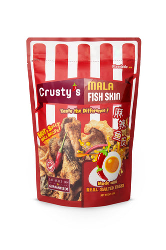 Crusty's Mala Salted Egg Fish Skin (Single Pack)