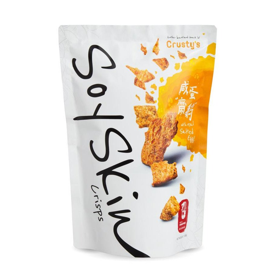 Crusty's Salted Egg Yolk Soy Skin Crisp (Single Pack)