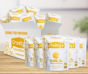 Crusty's Bubble Tea Flavoured Popcorn X 6 PACKETS
