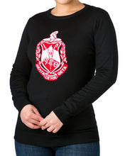 Load image into Gallery viewer, Red Friday Sale | Delta Black Crest Sweater