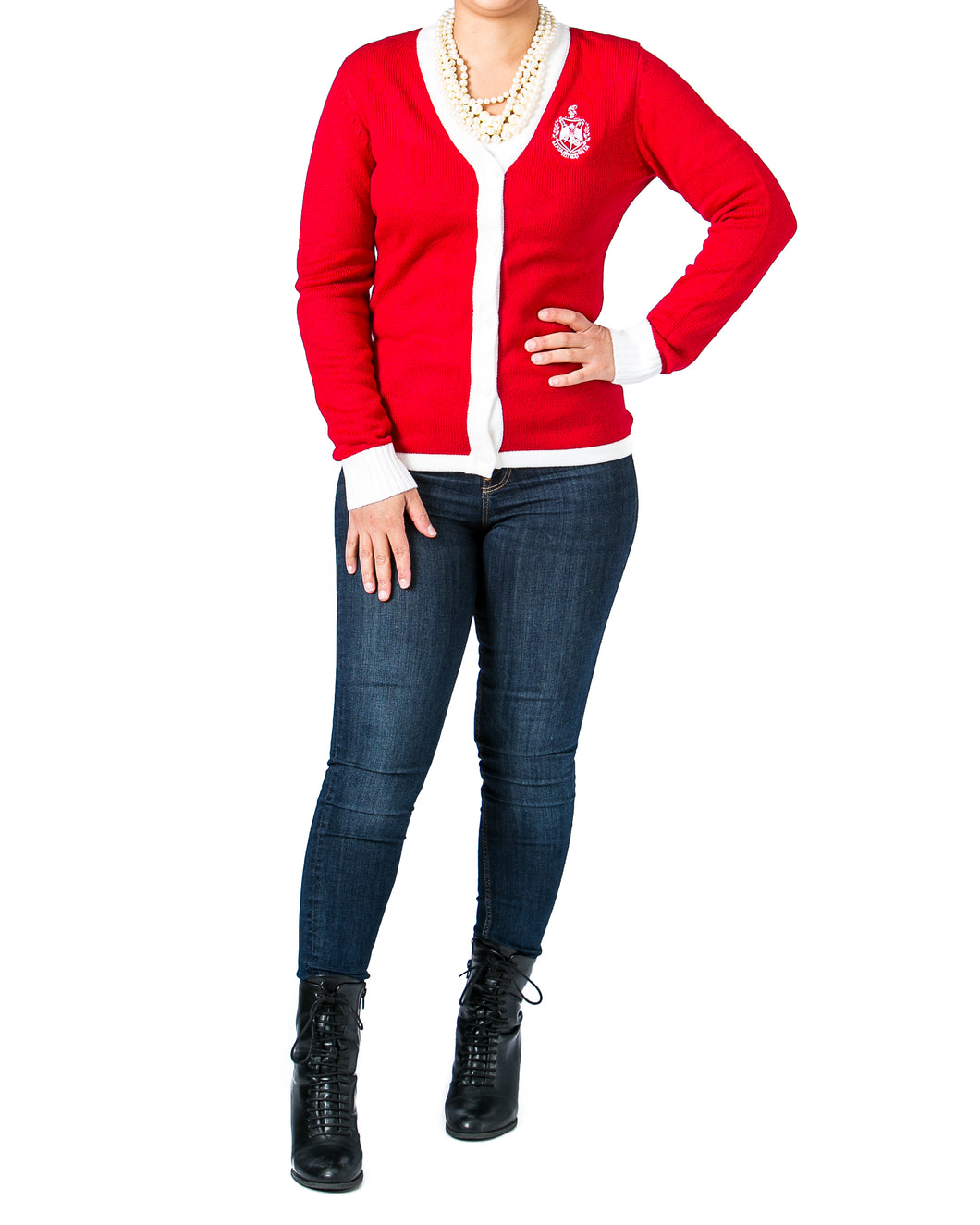 Red Friday Sale | Delta Varsity Sweater + Scarf