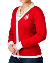 Load image into Gallery viewer, Red Friday Sale | Delta Varsity Sweater + Scarf