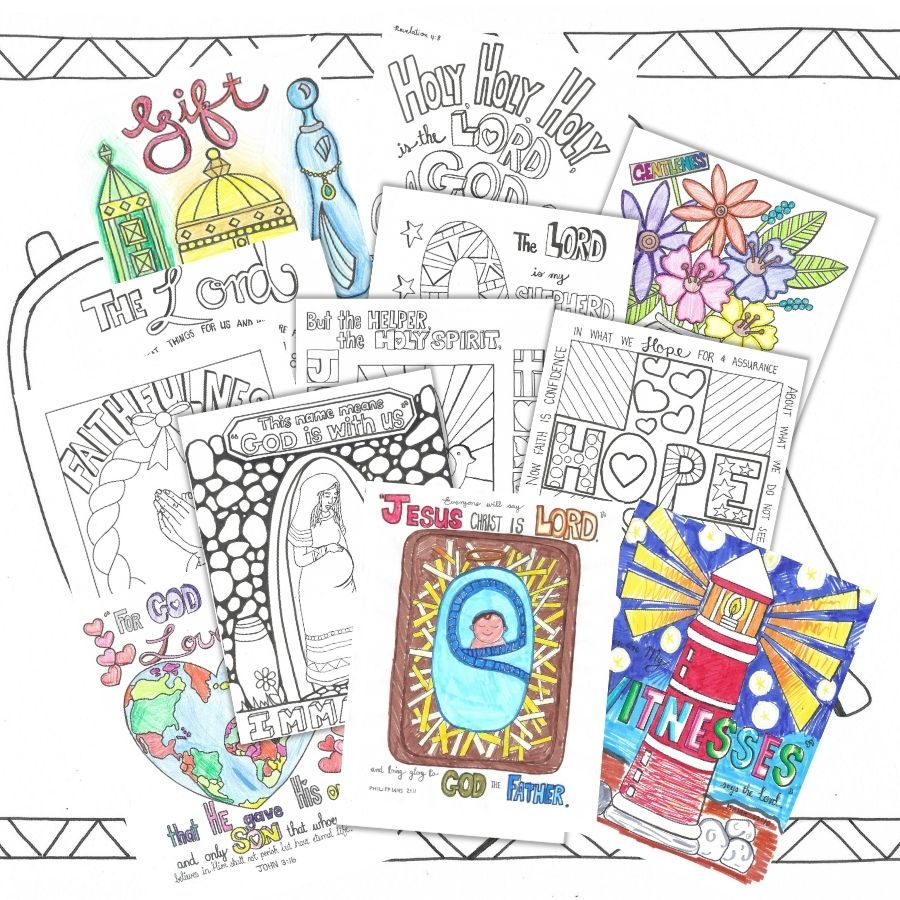 The Wise Men Journey Christmas Coloring Pages