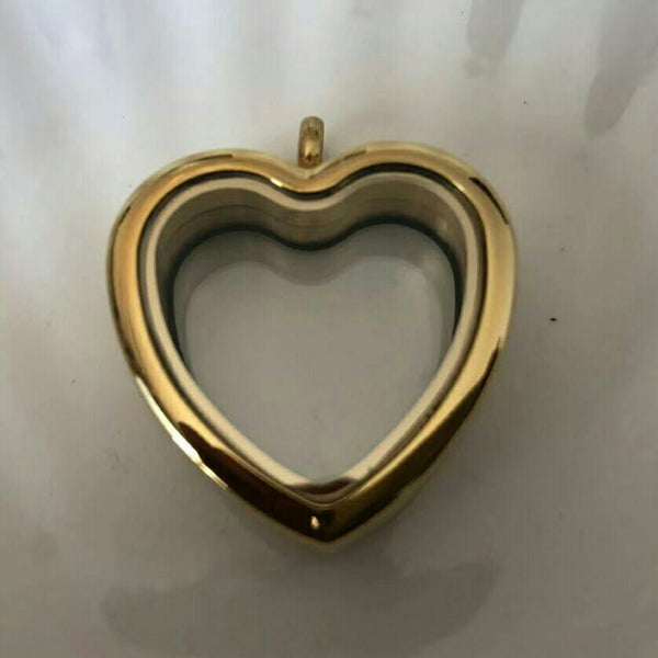 Gold Heart and Teardrop Stainless Steel Lockets