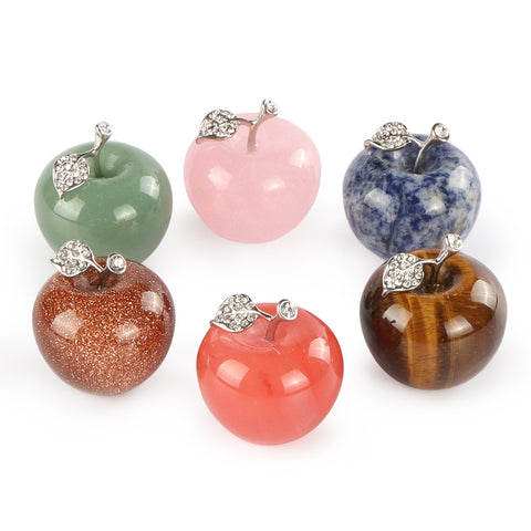 30MM  big  size  natural  gemstone apple pendant