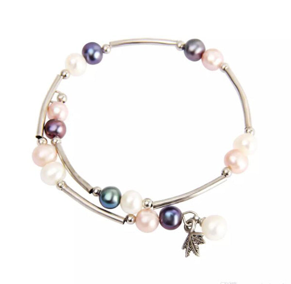 Culture Baroque pearl bracelet,wrap bracelet,wholesale wrap pearl bracelet more colors for choose