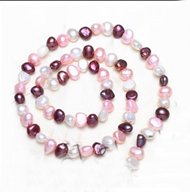 Cultured Baroque Freshwater Pearl Beads 5.5-6.5mm Approx 0.8mm Sold Per Approx 15.5 Inch Strand