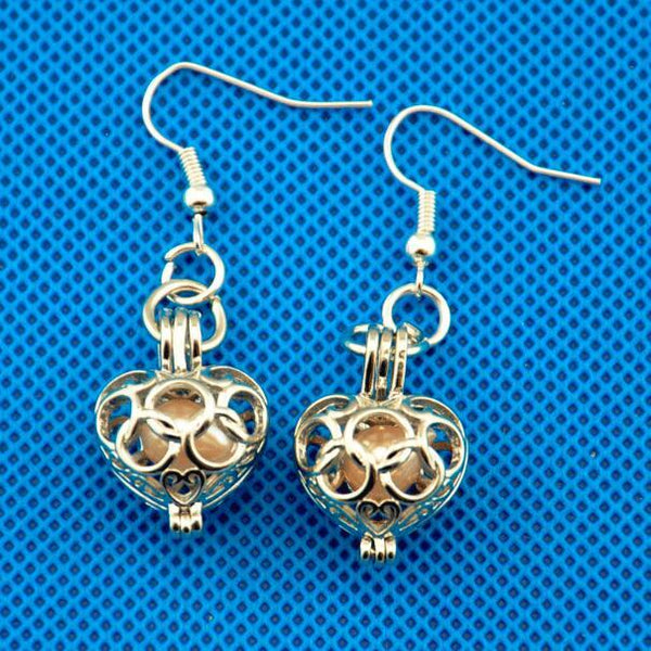 Cage Drop Earrings Silver Plated,Silver Plated Cage, Silver Plated Earrings,Earring Mounts,Mounts