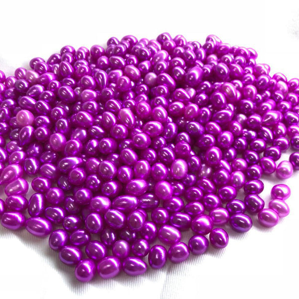 Culture rice pearl ,oval pearl 7-8mm colors  wish pearl beads ,25 colors
