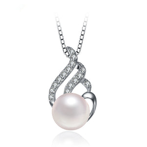 Sterling Silver pendant,pearl pendant ,Sterling silver pendant mount,white gold plated