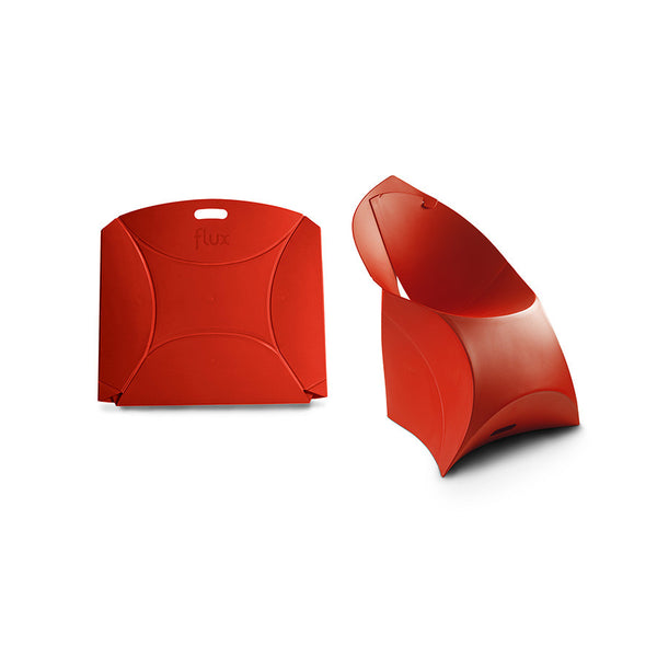 Classic Red Flux Chair