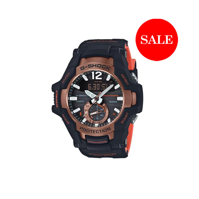 CASIO G-SHOCK  GRAVITY MASTER - BLACK ORANGE
