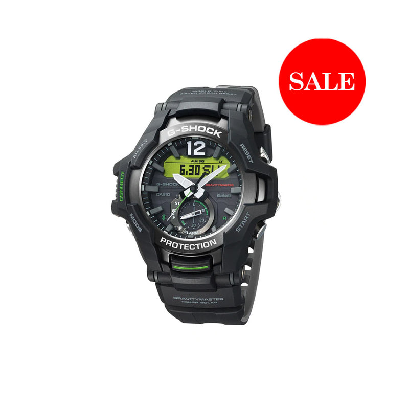 CASIO G-SHOCK  GRAVITY MASTER - BLACK NEON GREEN