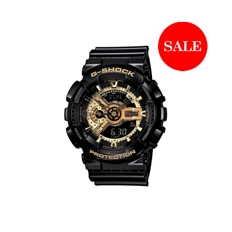 CASIO G-SHOCK GA110 BLACK GOLD