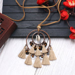 Tassel Circle Necklace Beads Shell Clavicle Sweater Necklace