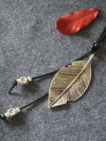 As Picture Metal Leaf Necklace